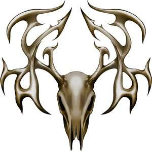 Deer Buck Tribal skull hunting cornhole decal set AWESOME
