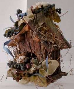 Vintage Rustic Wood Bird House Barnwood