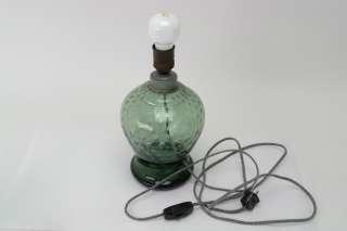 Vintage 20s LAMP BASE glass ART DECO bubble glass