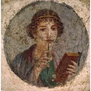 Kunstreproduktion: 1. Jahrhundert Mädchen mit Schreibgriffel, sog