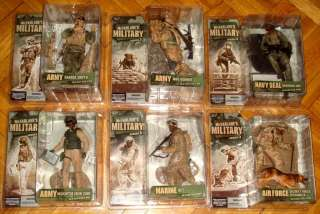 MCFARLANE MILITARY SERIES 3 AIR FORCE SNIPER ARMY NAVY