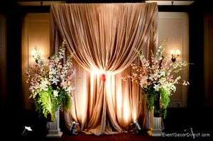 Wedding Backdrop Kit w/Pipe, Drape and Valence: 1 PANEL 7 12ft TALL