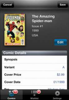 Comic Book iPhone App for (LOT Marvel Silver Age Amazing Spider Man #1
