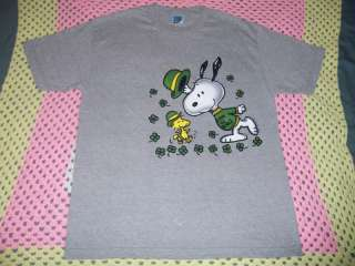 Peanuts Snoopy Woodstock Erin Go Beagle L Irish T Shirt