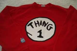 Boys Extra Large Dr. Seuss Thing 1 & 2 Sweat Shirt