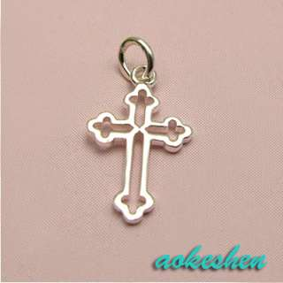 Free P&P 925 Sterling Silver Charm Pendant Cross 17x11mm SA65