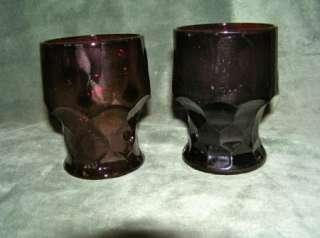 Vintage Anchor Hocking Royal Ruby Red Glass Tumblers