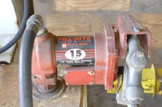 WEATHERGUARD DIESEL FUEL TANK W/ FILL RITE 12V TRANSFER PUMP