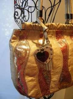 BEBE bag purse handbag SATCHEL pocketbook HOBO SILVER 181358 WAVE