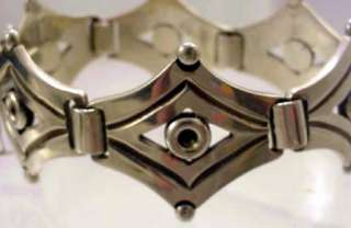 Signed Jose Luis Flores Taxco Mexico Sterling Bracelet 57.8 grams