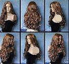 A210 COSPLAY LONG BLACK WOMEN FULL WITHOUT BANG CURLY WIG +gift