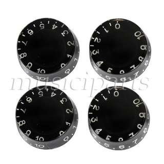 4P Black Speed GUITAR CONTROL KNOBS for Gibson Les Paul