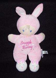 Kids Preferred Pink Snuggle Bunny Doll Feet Lovey Plush