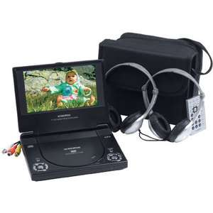Audiovox D1788PK 7 Slim Line Portable DVD Player w/ Case and