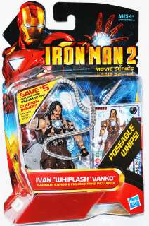 IRON MAN 2 WHIPLASH Ivan Vanko 3 3/4 Inch Movie Series New on Card