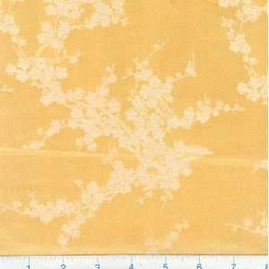 45 Wide Oriental Brocade Fabric Cherry Blossom Golden