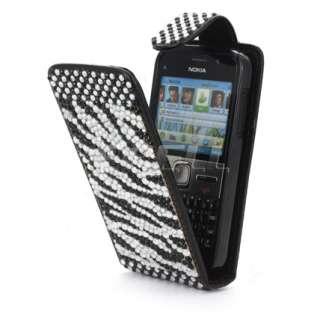 Ecell Designer Range   Leather Bling Flip Case Cover for Nokia E5