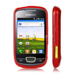 Ecell Value Range   Rubber Silicone Case for Samsung Galaxy Mini   Red