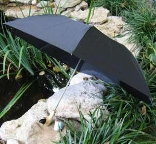 Black Auto WOOD Duck Head Handle Folding Umbrella DHW