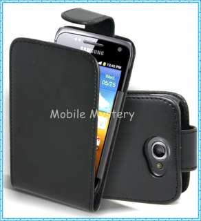 BLACK FLIP CASE POUCH PU LEATHER COVER FOR SAMSUNG GT I8150 GALAXY W