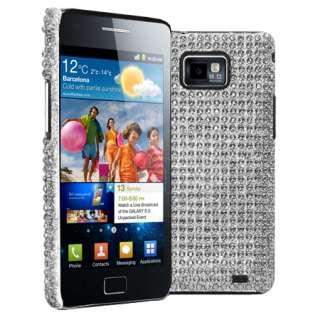 Magic Store   Silver Diamante Back Case For Samsung Galaxy S2 i9100