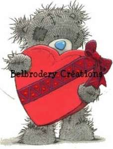 Grille point croix/cross stitch teddy bear ourson gris