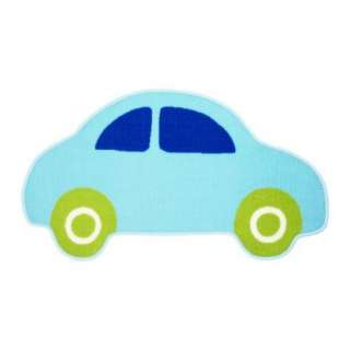 IKEA VITAMINER BIL BLUE CHILDS CHILDRENS BOYS CAR RUG
