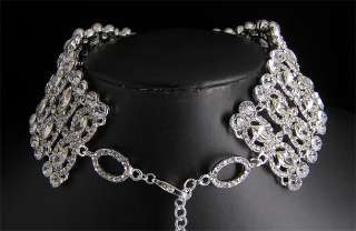 Luxury clear crystal wedding bridal party necklace Choker S357
