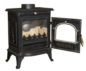 Minnie Cast Iron Multifuel Wood Log Burning Stove 6.5kw |