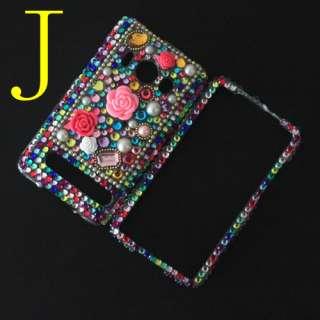 Diamond Crystal Bling Hard Back & Front Cover Case Skin For HTC EVO 4G