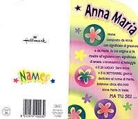 HALLMARK Biglietto Auguri Generici NOME 10 ANNA MARIA