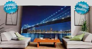Massive 4 Pieces High Quality Wall Paper Photo Mural Decal 194x134cm