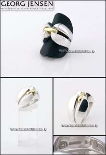 Georg Jensen Silver Ring # 311 with Gold Band