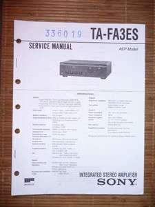 Service Manual für Sony TA FA3ES Amplifier,ORIGINAL