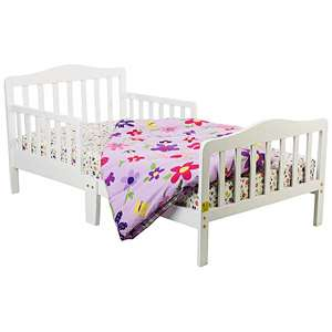 Dream on Me Classic White Solid Wood Toddler Bed