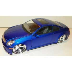 Jada Toys 1/24 Scale Diecast Dub City Infiniti G35 in Color Blue: Toys