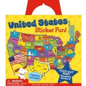 Peaceable Kingdom Press United States Sticker Tote Toys