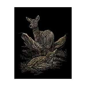 Royal Brush Gold Foil Engraving Art Kit 8X10 Deer GOLF 15; 3 Items