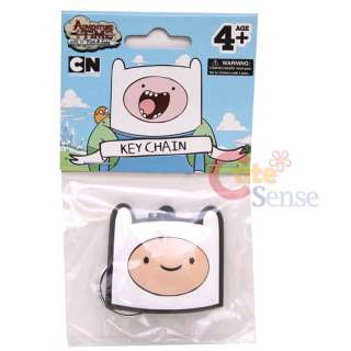 Adventure Time Finn & Jake Rubber Key Chain : Finn Face