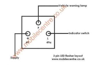 LED flasher relay 3 pin led bulbs fast flash fix E mark