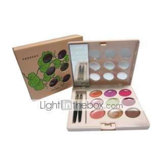 Wholesale Price   10 Pcs 9 Colors Mini Delicacy Lip Gloss Palette   US