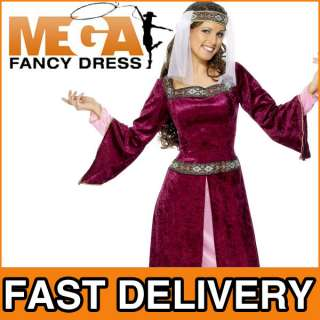 Adult Maid Marion Robin Hood Fancy Dress Costume 8 18