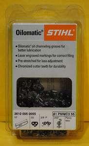 16 Stihl Chainsaw Saw Chain 36100050055 61PMMC3 55