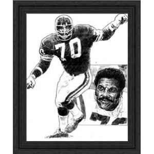 Framed Jim Marshall Minnesota Vikings: Sports & Outdoors