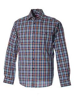 Double TWO Long sleeve barharbour shirt Navy