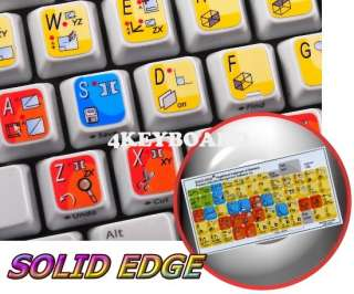 Solid Edge keyboard stickers |