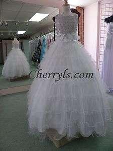 TIFFANY GLITZ 33401 White Size 16 GIRLS NATIONAL PAGEANT DRESS WINNING