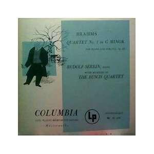 Rudolf Serkin (Piano)   The Members of the Busch String Quartet Music