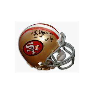 Steve Young Autographed San Francisco 49ers Throwback Riddell Mini