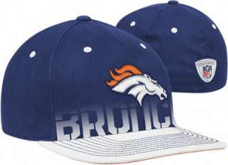 Denver Broncos Reebok 2010 Sideline Player Flat Brim Flex Hat